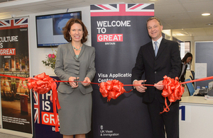 Hong Kong's new Visa Application Centre was officially opened by Parliamentary Under Secretary of State for Foreign and Commonwealth Affairs Mark Simmonds MP and British Consul General to Hong Kong Caroline Wilson