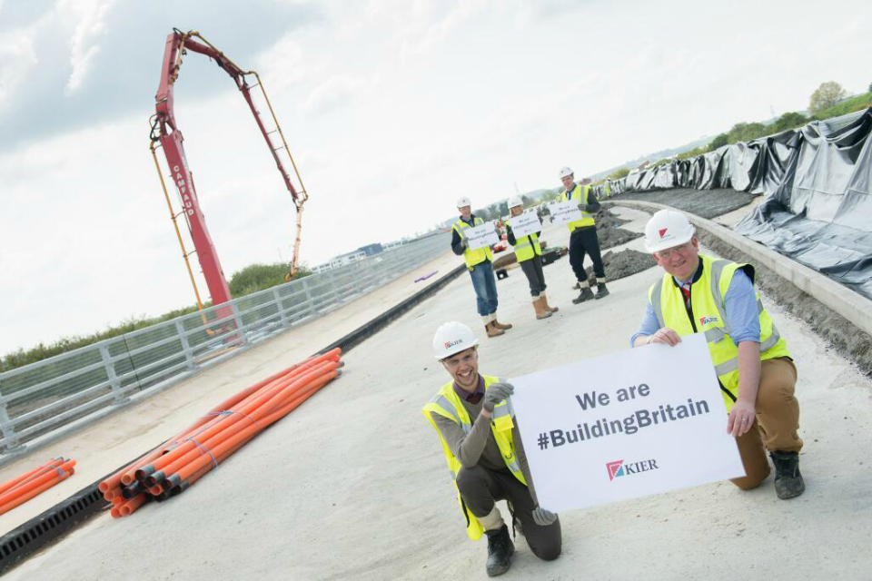 Kier builders are playing their part. Constructing more than 2km of carriageway and cycleways and a viaduct in Aylesbury, Buckinghamshire.