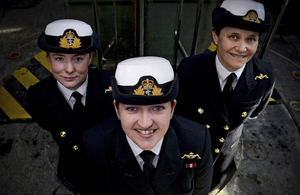Left to right: Lieutenants Maxine Stiles, Alex Olsson and Penny Thackray [Picture: Chief Petty Officer Airman (Photographer) Thomas McDonald, Crown copyright]