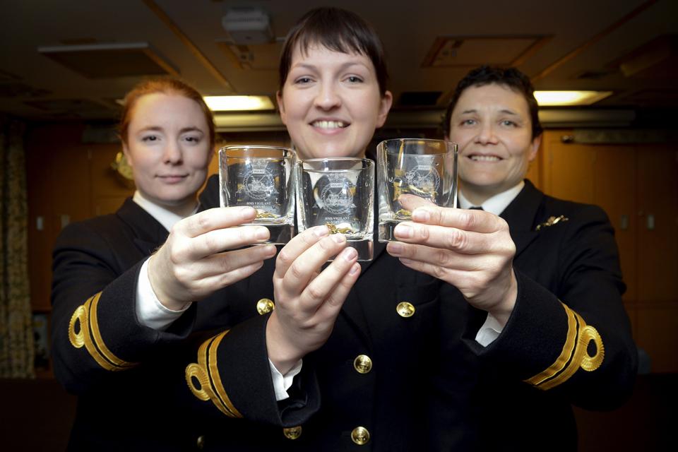 Left to right: Lieutenants Maxine Stiles, Alex Olsson and Penny Thackray