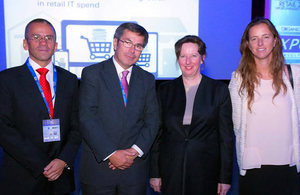 British Ambassador Fiona Clouder at Retail event.