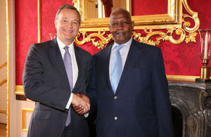 Minister Simmonds and Uganda Foreign Minister Kutesa