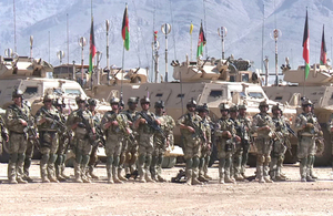 The Afghan National Army training exercise in Kabul [Picture: Nato]