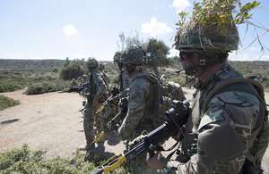 Reservists from 6th Battalion The Rifles on exercise in Cyprus [Picture: Corporal Si Longworth, Crown copyright]