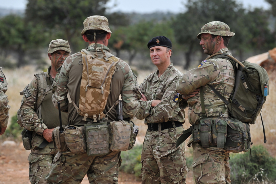 Reservists and regular soldiers train together in Cyprus