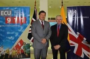 Ambassador Patrick Mullee and Cesar Navas