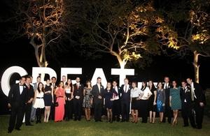 Parte del personal de la Embajada Británica en Lima y de la Cámara de Comercio Peruano Británica.