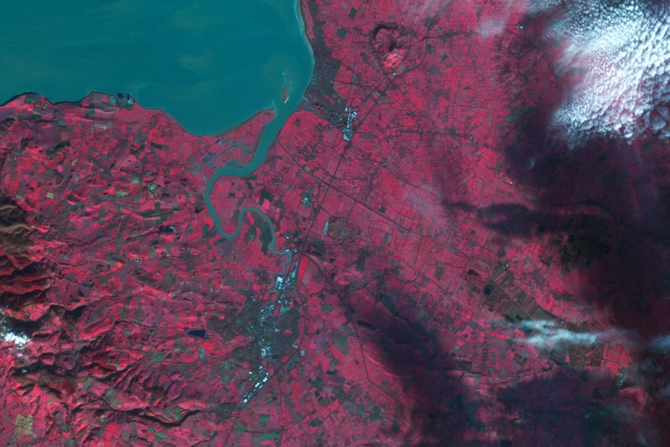 DMCii image of the Somerset Levels taken 9 December 2013.