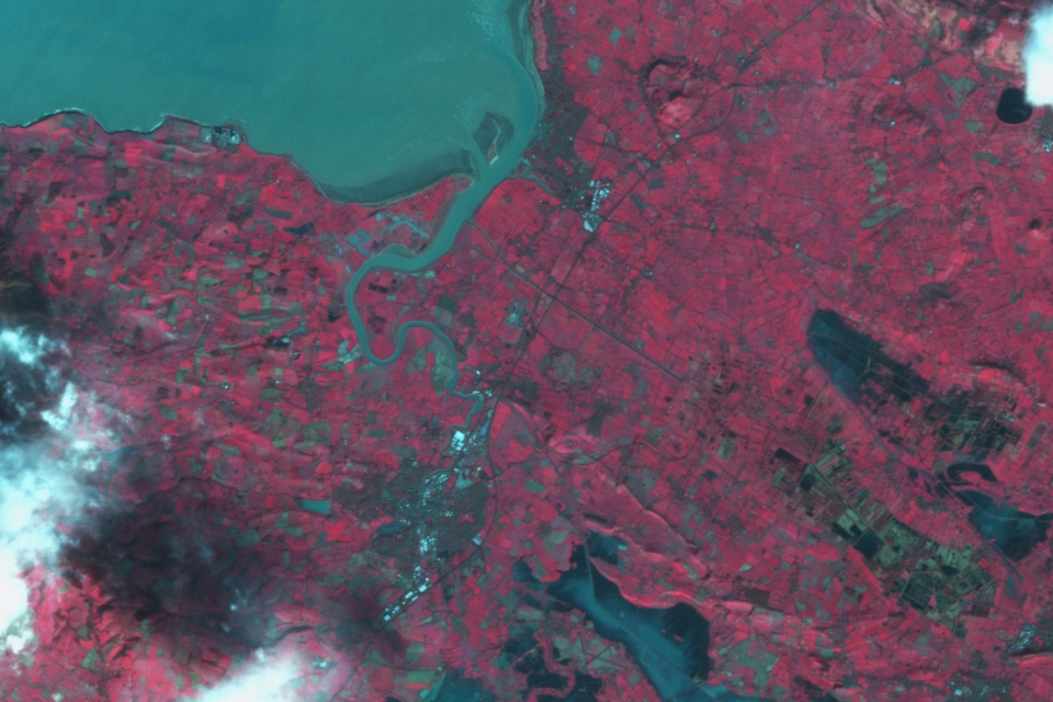 DMCii image of the Somerset Levels taken 30 January 2014.