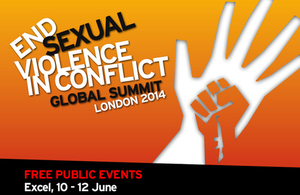 Free public events at the Global Summit to End Sexual Violence in Conflict, ExCel London 10 - 12 June 2014