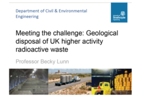 cover slide Geol Soc lecture