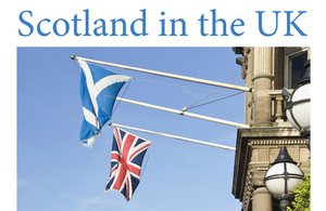 Front page of Scotland in the UK booklet