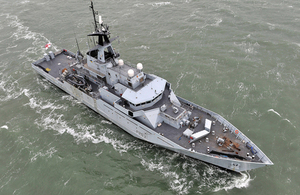 River class patrol vessel HMS Mersey of the Fishery Protection Squadron (library image) [Picture: Leading Airman (Photographer) Caroline Davies, Crown copyright]