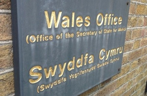 Wales Office Sign