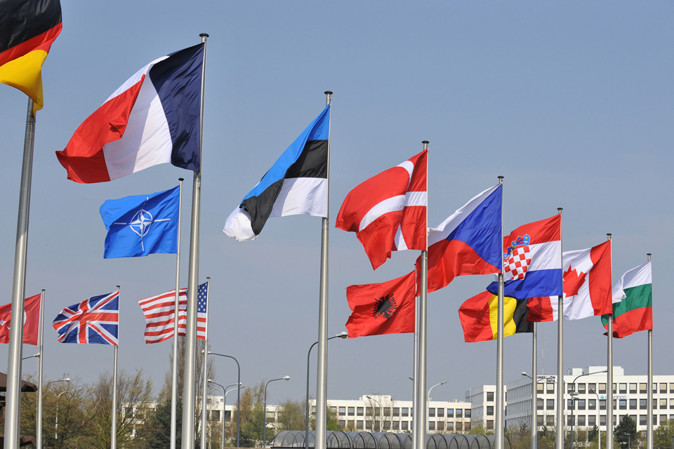 Flags at NATO headquarters