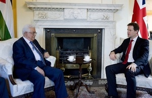 The Deputy Prime Minister with President Abbas