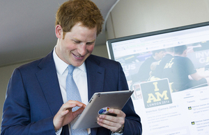 Prince Harry sends his first ever tweet to mark tickets for the Invictus Games going on sale [Picture: Tristan Fewings, Getty Images 2014]