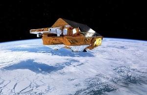 Artist's impression of CryoSat. ESA/AOES Medialab.