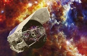 Herschel and Rosette Nebula. Credit: ESA - C. Carreau