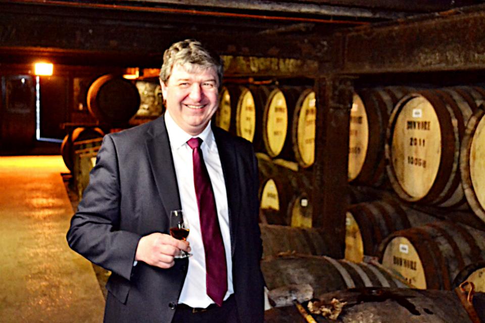 Alistair Carmichael at Bowmore distillery