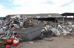 Waste site on Wigwam Lane, Huckall