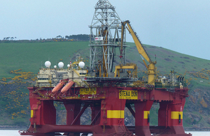 Oil rig in Scotland