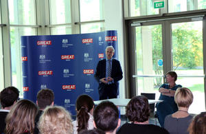 Minister Lidington addresses British Embassy Warsaw staff