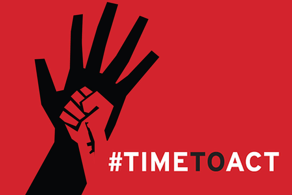 Time to act against Sexual Violence logo