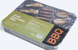 Disposable barbeque