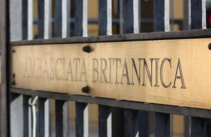 British Embassy plaque