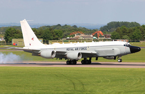 A Rivet Joint RC-135W aircraft at RAF Waddington [Picture: Sergeant Si Pugsley RAF, Crown copyright]