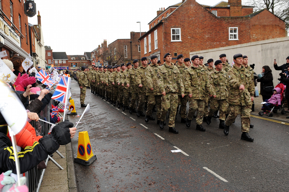 The Light Dragoons march through Dereham