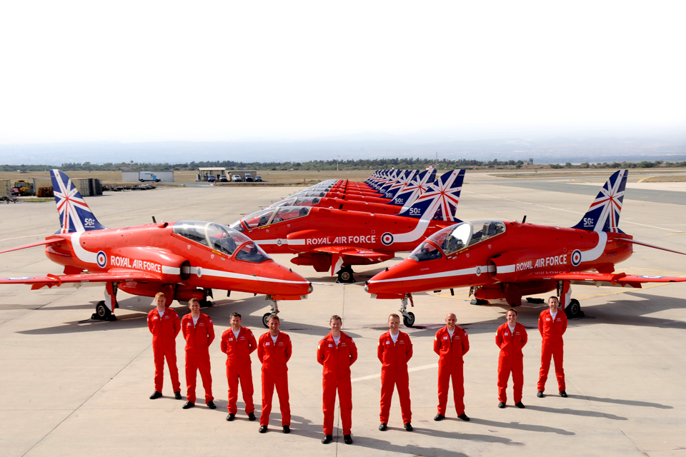 Red Arrows 50th season line-up