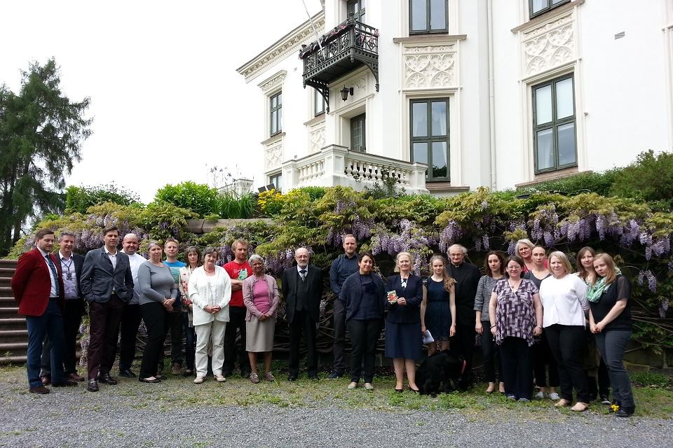 Embassy staff at poppy planting