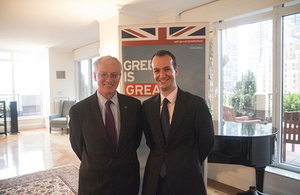 Sir Peter Crane and Consul General Danny Lopez