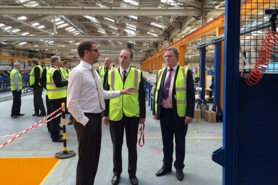 Trade Minister Lord Livingston visiting Techflow