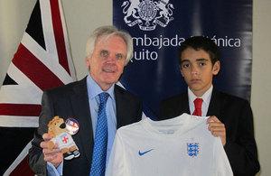 Ambassador Patrick Mullee and Mateo Caicedo