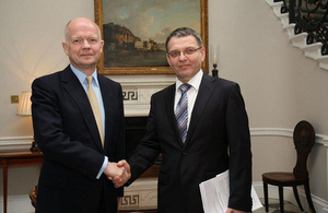 Foreign Secretary hosted Czech Foreign Minister in London