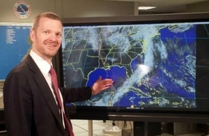 Deputy Ambassador Patrick Davies at the US National Hurricane Center (NHC) in Miami, Florida