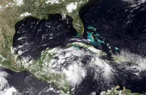 Hurricane in Gulf of Mexico