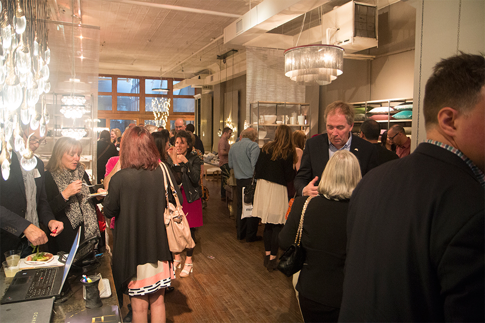 The networking reception held at OCHRE in Soho.