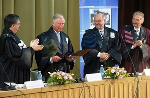 Prince Charles at the University of Bucharest