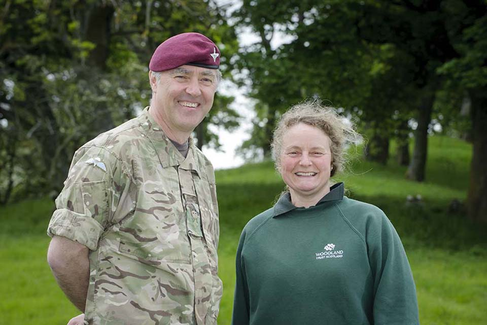 Lieutenant Colonel Peter Hollins and Carol Evans