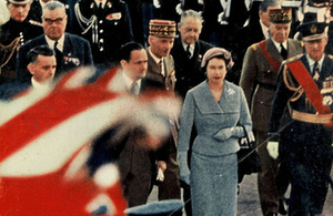 Her Majesty The Queen in Paris in 1957