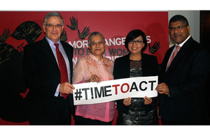 Australian Ambassador Bill Tweddell, Secretary Ging Deles, Prof. Miriam Coronel Ferrer and British Ambassador Asif Ahmad