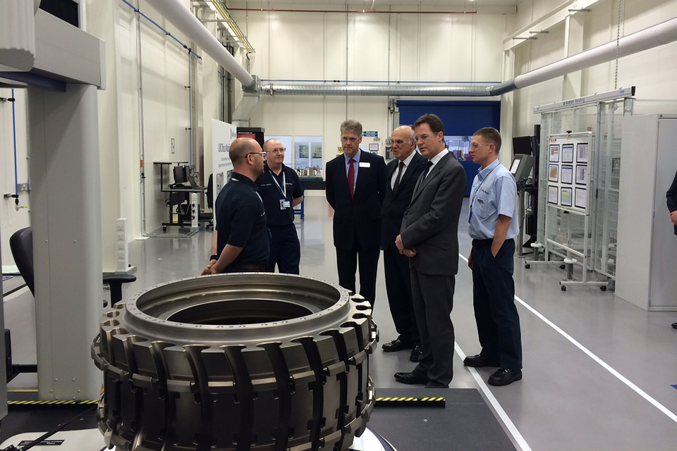 Business Secretary Vince Cable and Deputy Prime Minister Nick Clegg visit Rolls Royce - Cabinet Office Flickr