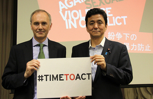 Vice Foreign Minister Kishi and Ambassador Hitchens promoted the PSVI twitter campaign #TimeToAct