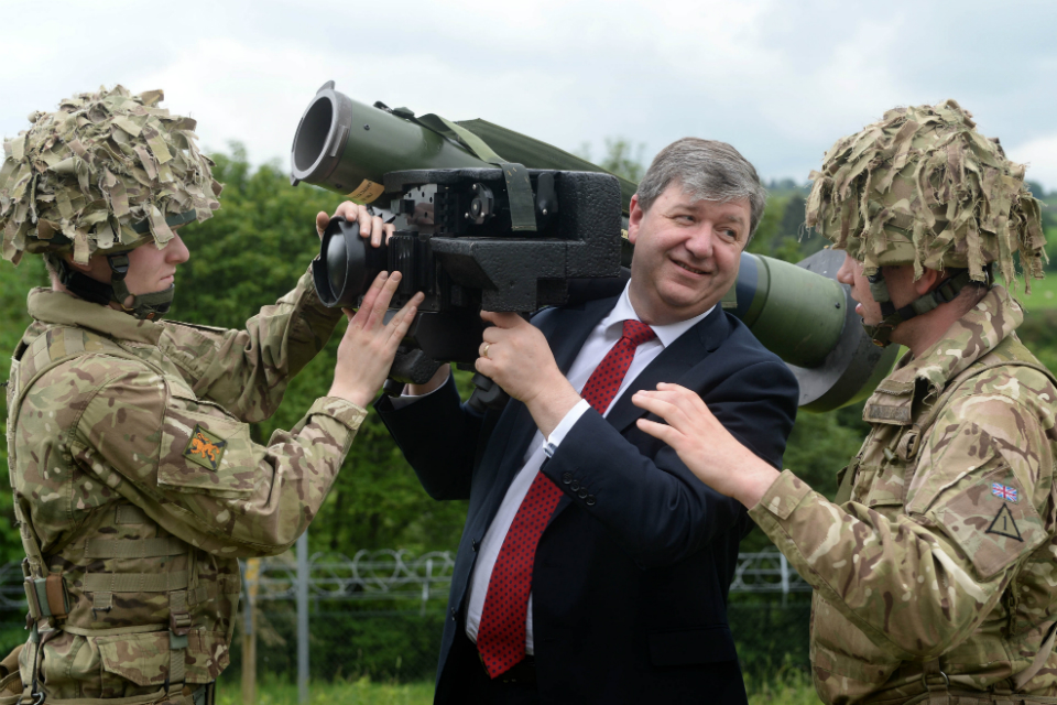 Alistair Carmichael at Glencorse Barracks