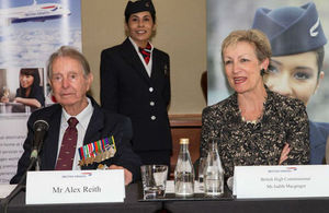 High Commissioner Judith Macgregor with Veteran Alex Reith