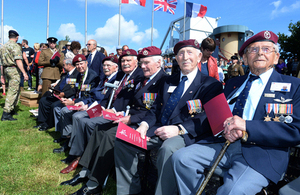 Veteran glider pilots at the Pegasus Bridge commemorative event [Picture: Corporal Andy Reddy RLC, Crown copyright]